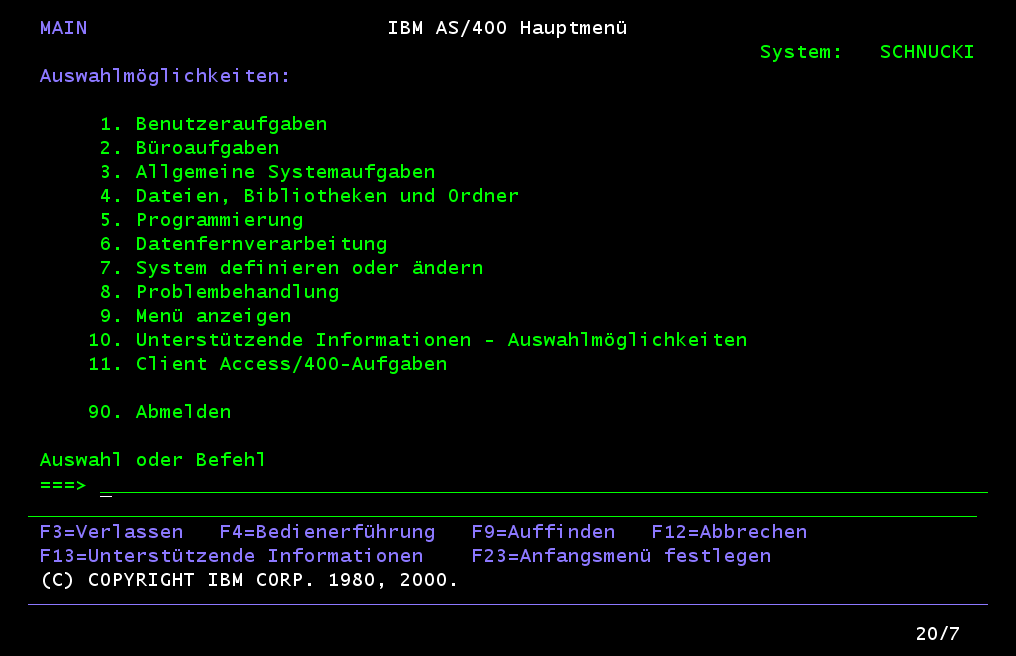 as400 hauptmenue png